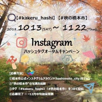 和歌山県橋本市 Instagramハッシュタグオータムキャンペーン