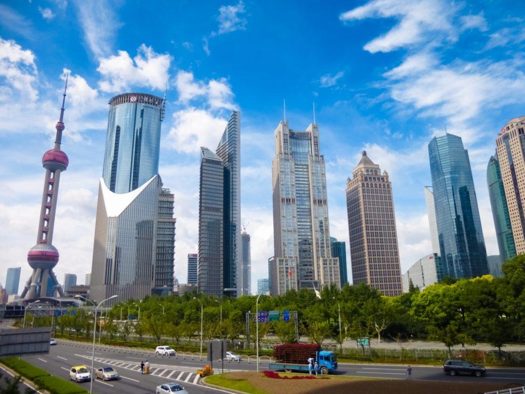 上海 陸家嘴の高層ビル群
