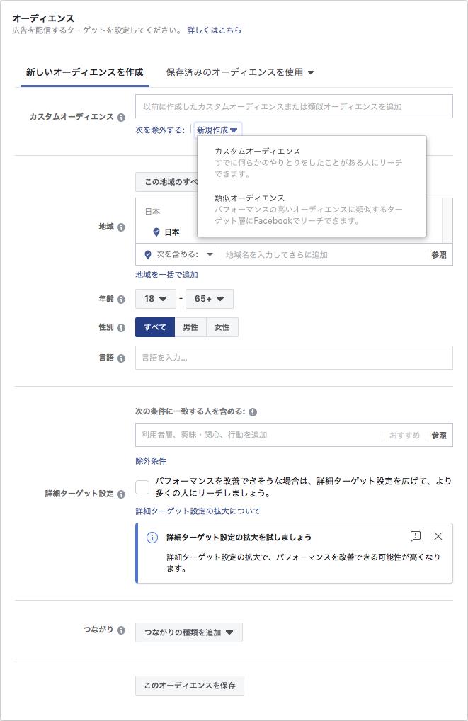 Facebook広告のターゲティング