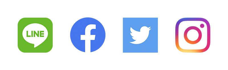 LINE Facebook Twitter Instagram ロゴ